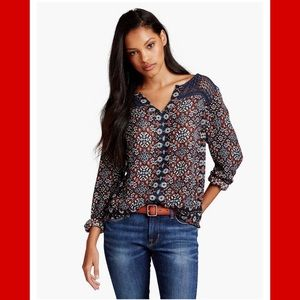 Lucky brand Ikat Geo Top women's size small